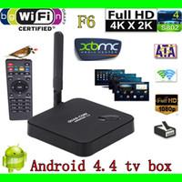 Wholesale F6 Android TV box rk3128 Quad Core GHZ G G ROM H XBMC DLNA Wi Fi IR D Smart Media Player V956