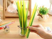 Wholesale Korean Stationery Green Glass Writing Pen Creative Sign Gel Pen Children s Toy School Presents mm Black