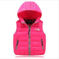 clothing manufacturers - North with the original single paragraph cardigan sleeveless hooded down vest children vest children s clothing manufacturers