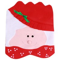 Wholesale 1pc Red Santa Hat Pattern Novelty Chair Covers Dinner Chair Cap for Christmas Decorations Xmas MU677596