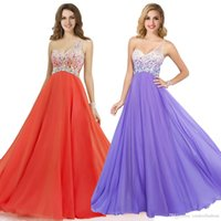 Wholesale 2015 Cheap Coral Lilac Prom Dresses One Shoulder Sheer A Line Chiffon Crystal Backless Formal Evening Gowns Christmas Party Dress CPS092