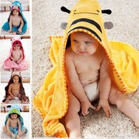 terry hooded towel - New Cartoon Animal Baby Hooded Bathrobe Bath Towel Bath Terry Bathing Robe For Children Kids SV006263