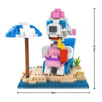 animations dog - New Arrivals Sunbathe dog Kits Building Blocks LOZ Minifigure Nano block Action Figure Brick Cartoon d modelismo Animations