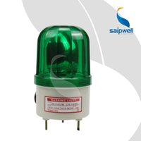 Wholesale IP54 V AC DC screw connecting buzzer function green indicator lamp rotate flash led industrial signal alarm