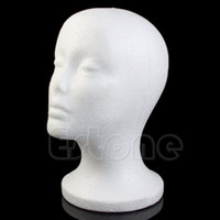 Wholesale Female Wig Hair Hat Glasses Display Styrofoam Foam Mannequin Manikin Head Model order lt no track