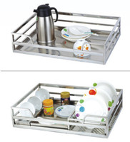 basket kitchen cabinet - Stainless steel kitchen the whole cabinet wall cabinet pull down closet OTC Baskets