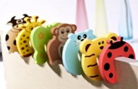 Wholesale 10 pieces Baby Safety Fence Animal Cartoon Door Stopper Finger Protection Door Holder Baby Safety Gate Protector