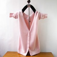 cashmere sweater - Winter Women s Sweater Cashmere Wool Blend Knitted Sweater Cardigan Coat V neck Warm Cardigans EMS