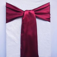 satin chair sash - 1 Wine Red Satin Chair Sashes banquet Sash Wedding Party Bows Tie Decor New Colors Craft Gift SAT