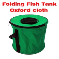 Wholesale Oxford cloth Fish Tank Portable Folding Collapsible Fish Keg Fishing Vessel Barrel Foldable Bucket With Three colors