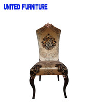 Wholesale Continental METAL Furniture Hotel Chair Wooden grain Chair Leisure Chair Dining Chair At Home