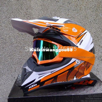 helmet - 2015 New arrive KTM motocross racing helmet casco capacete motorcycle safe cap with goggles DOT APPROVED