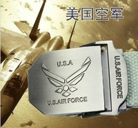 air force tie - 2013 free shiping new men s United States Air Force thickening canvas belt high quality color
