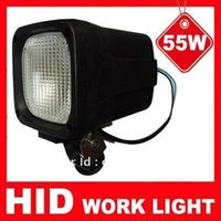 Wholesale HID Work Light V W K Wide Flood TRUCK H3 HID XENON WORK FLOOD LIGHT WORKING LAMP AUTO HEADLAMP
