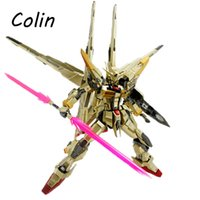 akatsuki gundam - Dragon Momoko Gundam Model MG Akatsuki Double Weapons Backpack Golden Plated Action Figure Assemble Toys Gift WJ393