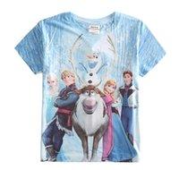 frozen tshirt - Frozen Children Boys Girls Short Sleeve Tshirt Kids Clothing Princess Anna Elsa Olaf Summer Tshirt Childs Snow Queen Tops G2022