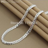Wholesale inches Unisex High quality solid sterling silver Female women men s Male chain Link necklace Pendant friend gift KX130