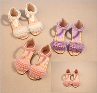 Wholesale summer children sandals yards princess pearl lace shoes baby dance shoes girls Beach shoes pairs TP