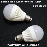 Wholesale Factory Sound and Light Control LED Bulb W W W W LED Lighting V Energy Saving LED Lamp Long Lifespan