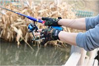 Wholesale 10LOT HHA631 New Fishing Hunting Gloves Pack Cut Finger Anti Slip Green Camo Camouflage Free Size Hot Sports Glove