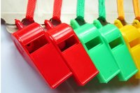 Wholesale Color Plastic Whistle Lanyard Emergency Survival Fans Cheer Competition