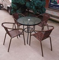 plastic tables and chairs - Outdoor furniture garden courtyard the cane furniture hotel cafe tables and chairs villa leisure outdoor rattan chair