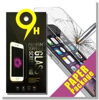 al por mayor tempered glass-Para Iphone 7 Protector de pantalla de vidrio templado para Iphone 7 Galaxy Galaxy ON5 S6 LG Aristo 0.33mm 2.5D 9H Paquete de papel anti-rompimiento
