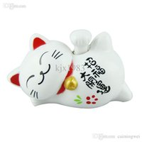 amazing smile - Amazing Funny Cute quot Length Solar Lucky Smile White Cat Toys Supper Home Decor Car Ornaments