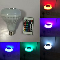 arrival lighting control - New Arrival Wireless W LED speaker bulb Audio Speaker E27 RGB music playing Lighting With Keys IR remote Control free ship