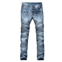 american flying jackets - 2015 NEW HOT BALMAIN MEN S WASHED JEANS PANTS JACKETS MOTORCYCLE B003