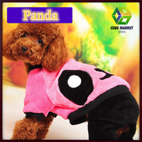 Wholesale CUBE MARKET Fleece made dog cat clothes yellow and pink anminal printed cat dog clothing