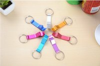 alloy tool steel bars - Portable Stainless Steel Bottle opener Key Chain Ring Aluminum alloy beer wine openers bar club waiter tools A