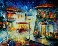 art tram - Hot Sell Modern Wall Painting Home Decorative Art Picture Paint Canvas Prints Color painting Tram Street lamp City flower