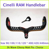 Wholesale Cinelli RAM Full Carbon Cycling Handlebar Riser Integrated With Stem Computer Holder k Wave Road Racing Match Bike Parts Glossy Matt Finish