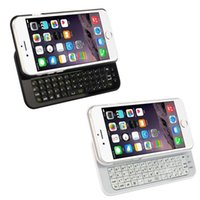 Wholesale Free DHL iPhone inch Wireless Bluetooth Keyboard Ultra Thin Hard Plastic Slide Out Cover Case Cell Phone Keyboards With Backlight