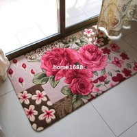 beautiful doormats - 3D Beautiful rose pattern Entrance Door mats Doormat Foyer absorbent non slip mats cm