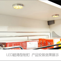 Wholesale Ultrathin Under Cabinet downlight Ecobrt w Led Puck Light Surface Round Under Cabinet Lighting Lamps v Ultra thin