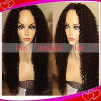 Wholesale 100 brazilian virgin human hair full lace lace front wigs kinky curl full lace human hair wigs for black women
