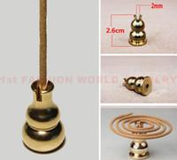 Wholesale Brass Incense Burner Holder for Incense Stick Coil Bottle Gourd Shaped Incense Holder High Quality