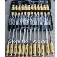 Wholesale 12 Piece quot inches Wood Carving Hand Chisel hand set Tool Set Woodworking Professional New order lt no track