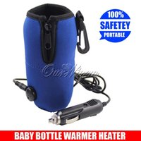 Wholesale 12V Bottle Warmer Travel Baby Kid Food Milk Bottle Heater in Car Blue Universal High Quality WNQ