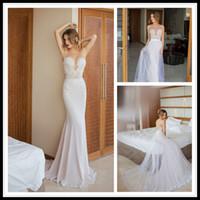 Wholesale Vestido de Novia Sirena White Mermaid Wedding Dress Lace Top Convertible Wedding Gowns Bridal Dresses Custom Made Brautkleider Julie Vino