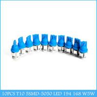 Wholesale 10PCS T10 SMD LED W5W Car Side Wedge Tail Light Blue Light C218