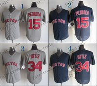 baseball red sox - boston red sox david ortiz Dustin Pedroia Baseball Jersey Cheap Rugby Jerseys Authentic Stitched Size