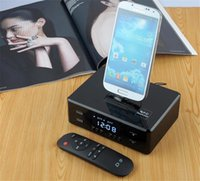 alarms docking stations - LCD Digital FM Radio Dual Alarm Clock Dock Charge Station NFC Bluetooth Stereo Speaker USB Play Charge Remote Control