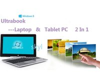 Wholesale laptops laptop inch rotating screen touch screen ultrabook G RAM G HDD Celeron dual core Ghz Win7 DHL FREE