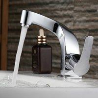 Wholesale Freeshipping B R Fashionable Tap Bathroom Chromed Mixer Single handle Single hole Surface Mounted Bathroom Sink Faucet B M