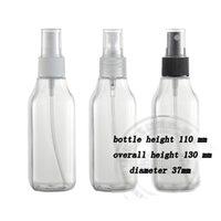 100ml Plastic flask - Capacity ml Transparent quadrate flask South Korea imported spray bottle plastic bottle