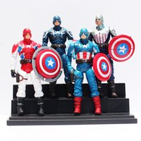 Wholesale The Avengers Captain America PVC Action Figures Toy Model toy Figure with light set
