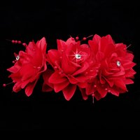 Cheap Free Shipping Bridal Accessories Tiaras & Hair Accessories Wholesale & Retail New Arrival More Color Flower Headwear For Wedding Or Others